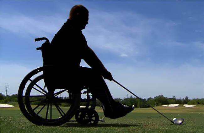 golfe cadeira rodas