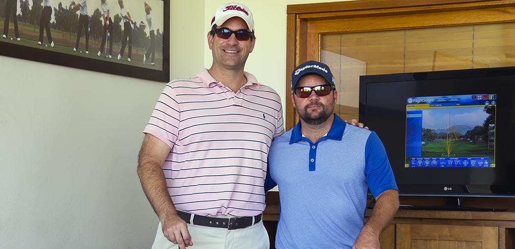 Ricardo Iverson e Philippe Gasnier na Jack Nicklaus Academy of Golf 1010