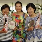 podio 16,1 a 25,7 com Masako Hiraike e Junko Omura