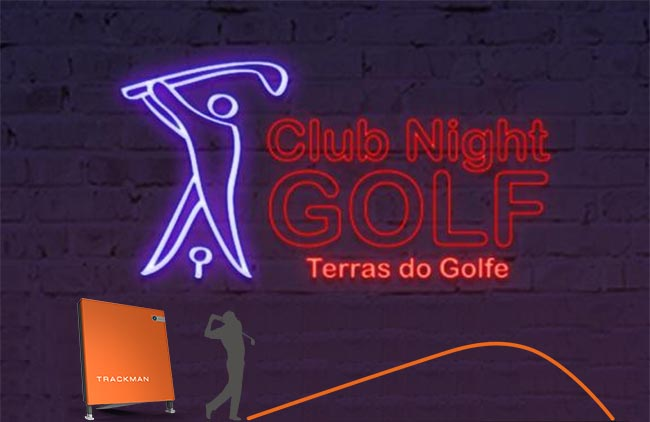 NIght golf trackman