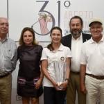 Campea Scratch Giovanna Fernandez com Edson Santos, Adelina Souza, Rodrigo Somlo e Jaime Gonzalez
