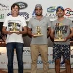 Equipe campea Felipe Navarro, Davi Chanzarian e Eliseu Nantes