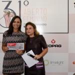 Near to the pin Jessica Lourenco com Adelina Garcia de Souza