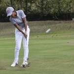Samire Oliveira no fairway do 13