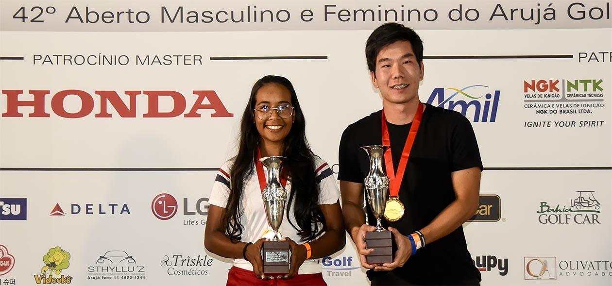 Samire Oliveira e Pedro Nagayama: campeões do Honda Opne - Aberto do Arujá 2018