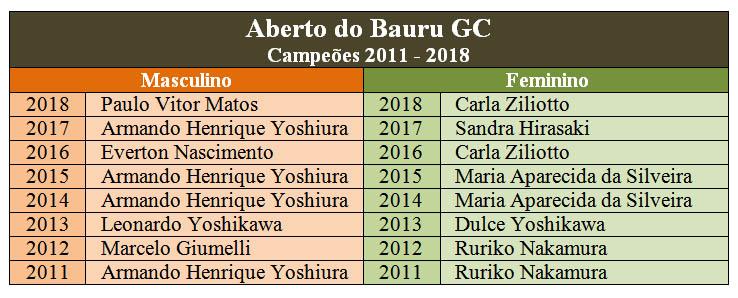 campeoes bauru 2011 2019