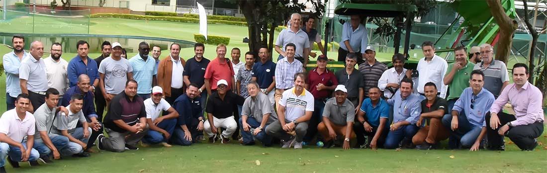 Palestgrantes e representantes dos clubesm no HOnda Golf Center