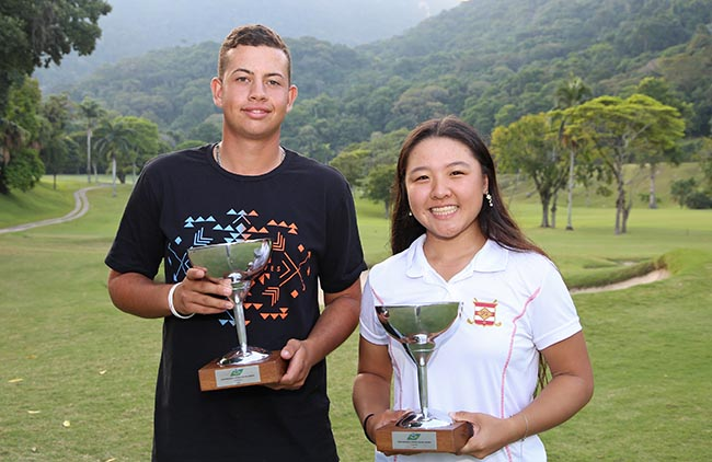 Andrey Xavier e Meilin Hoshino, campeões no Gávea. Fotos: Fábio Vicente