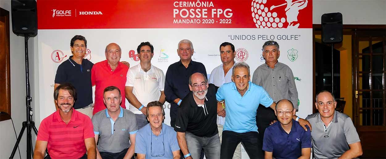 Presidência da FPG com parte dos novos diretores empossados: somando esforços para desenvolver ainda mais o esporte