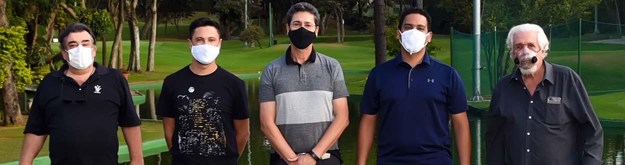 Fonseca, Segalla, Mazon, Reis e Pimentel sortearam os green-fees para os participantes