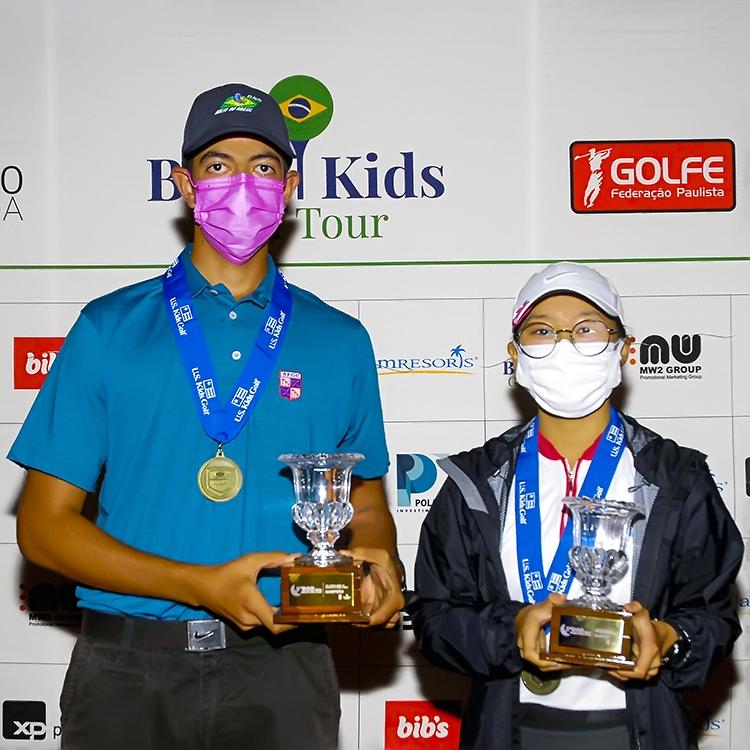 Benadiba e Nonaka: vencendo as duas etapas finais e o circuito de outono do Brasil Kids. Foto: Zeca Resendes