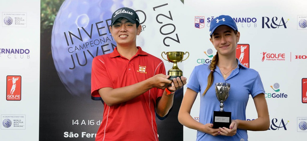 Thomas Choi e Isadora Fernal, campeões do Juvenil e Júnior de Inverno de SP. Fotos: Thais Pastor/F2 Assessoria