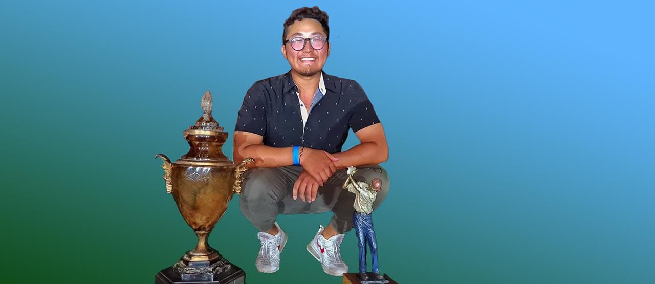 Lucas Park venceu pela primeira vez o Aberto do Quinta do Golfe. Imagem: arquivo pessoal